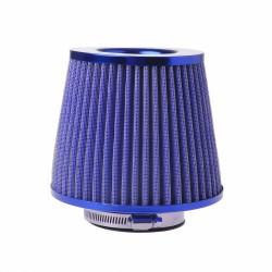Κωνικό φίλτρο αέρα διπλής ροής φιλτροχοάνη αυτοκινήτου 76mm - Μπλε