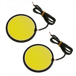 Αδιάβροχα στρογγυλά COB Led DRL φώτα ήμέρας αυτοκινήτου 2x10W / 12V - Σετ 2 τεμαχίων