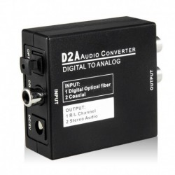 Μετατροπέας ψηφιακού σήματος Coaxial/Toslink σε αναλογικό L/R + Audio - Digital to Analog Converter