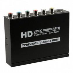 Μετατροπέας HD 3 σε 1 εισόδων YPbPr / AV / S-Video με έξοδο HDMI