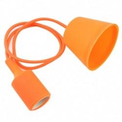 Κρεμαστό φωτιστικό από σιλικόνη για λάμπα E27 - Πορτοκαλί