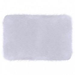 Χαλάκι Φλοκάτη 60x40cm - Λευκό
