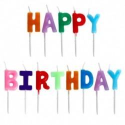 """Κεράκια γενεθλίων """"Happy birthday"""" με βάση"""