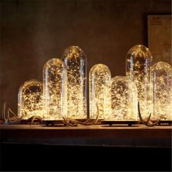 Χριστουγεννιάτικα 50 λαμπάκια led με θερμό φωτισμό και καλώδιο χαλκού 5m
