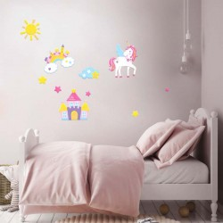 Αυτοκόλλητο τοίχου - Unicorn
