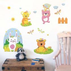 Αυτοκόλλητο τοίχου - Ζώα του Δάσους