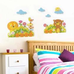 Αυτοκόλλητο τοίχου - Animals Garden