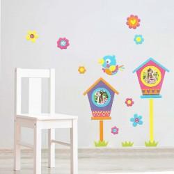 Αυτοκόλλητη κορνίζα τοίχου - Flowers