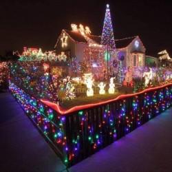 Χριστουγεννιάτικα λαμπάκια 200 Led με πολύχρωμο φωτισμό