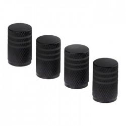Σετ καπάκια βαλβίδας ελαστικών στρογγυλά - 4 τεμάχια - LA-404 -Μαύρο