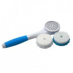 Τηλέφωνο ντουζ με ενσωματωμένο φίλτρο νερού και βούρτσες καθαρισμού - Γαλάζιο