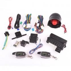 Σύστημα συναγερμού αυτοκινήτου με σειρήνα και χειριστήρια με οθόνη LCD