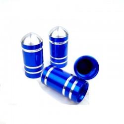 Σετ καπάκια βαλβίδας ελαστικών στρογγυλά - Μπλε - 4 τεμάχια