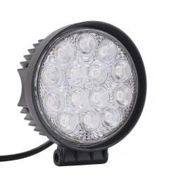 """Αδιάβροχος στρογγυλός προβολέας Cree LED 4"""" 42W/12-24V με ψυχρό φως"""