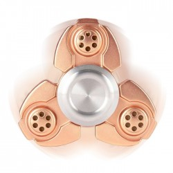 Αγχολυτικό παιχνίδι Fidget Spinner Titanium Alloy Three Leaves 2 minutes - Pink Gold