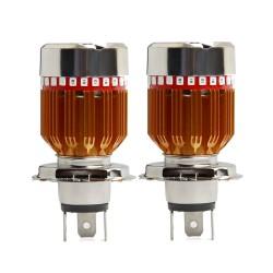 Λάμπα LED προβολέα μοτοσυκλέτας H4 3SMD 1000Lm Hi/Lo - 1 τεμάχιο