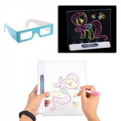 Παιδικός πίνακας 3D ζωγραφικής με LED και μαρκαδόρους - Space