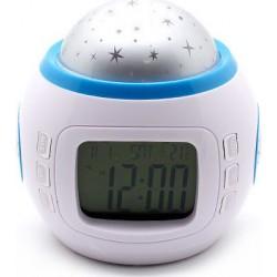 Ψηφιακό ρολόι με φωτιστικό δωματίου έναστρου ουρανού