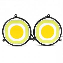 Στρογγυλά φώτα αυτοκινήτου COB LED ημέρας 12V/20W