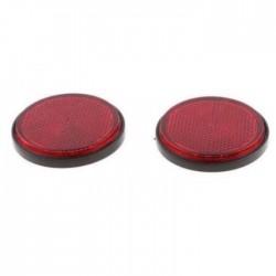 Σετ ανακλαστήρες κόκκινοι στρογγυλοί με αυτοκόλλητο