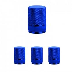 Σετ καπάκια βαλβίδας ελαστικών στρογγυλά - 4 τεμάχια - LA-408 - Μπλε
