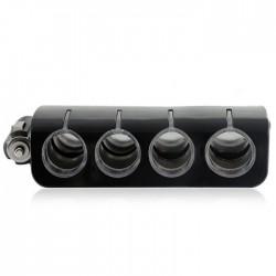 Πολύπριζο αναπτήρα αυτοκινήτου με 4 παροχές και 1 θύρα USB