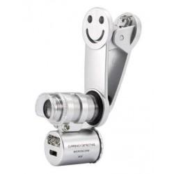 Φακός - μικροσκόπιο με κλιπ για το κινητό με 2 LED και UV