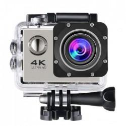"""Αδιάβροχη κάμερα δράσης 4K με 20 αξεσουάρ στήριξης Ultra HD / H.264 / 16MP / 2"""" LCD / Wi-Fi - Ασημί 48859"""
