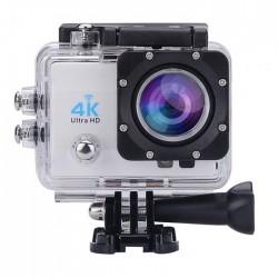 """Αδιάβροχη κάμερα δράσης 4K με 20 αξεσουάρ στήριξης Ultra HD / H.264 / 16MP / 2"""" LCD / Wi-Fi - Ασημί"""
