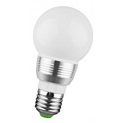 Βιδωτή LED λάμπα 3W / E27 με χειριστήριο που αλλάζει χρώματα