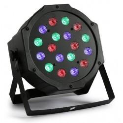 Στρογγυλός προβολέας 54W RGB με 18 LED και ηχητική ενεργοποίηση