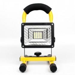 Επαναφορτιζόμενος φορητός προβολέας LED 30W με 3 λειτουργίες - 2000Lm