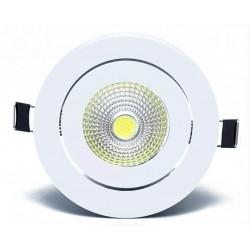 Στρογγυλό σποτ COB LED χωνευτό 5W - Ψυχρό φως