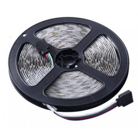 Αδιάβροχη αυτοκόλλητη ταινία LED RGB / 3528 SMD / 5m με χειριστήριο και τροφοδοτικό 12V/3A