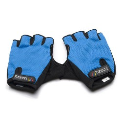 Unisex γάντια ποδηλάτου κοντά - Μπλε