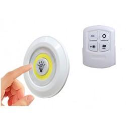 Φωτιστικά COB LED με τηλεχειριστήριο - Σετ 3 τεμαχίων