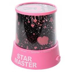 Φωτιστικό Δωματίου με projector σε σχέδια έναστρου ουρανού - Star Master Projector - Ροζ