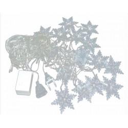 Κουρτίνα 100 Led με θερμό φωτισμό - Νιφάδες Χιονιού