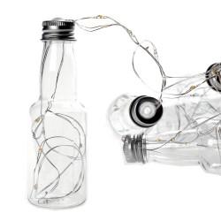 Διακοσμητική γιρλάντα με φωτάκια ρεύματος Led - (10 μπουκαλάκια ευχών και καλώδιο χαλκού 3m)
