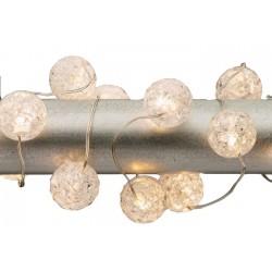 Διακοσμητική γιρλάντα με φωτάκια μπαταρίας Led με θερμό φωτισμό- (20 λαμπτήρες και καλώδιο 2m)
