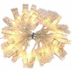 Σετ 20 φωτεινά μανταλάκια LED με θερμό φωτισμό