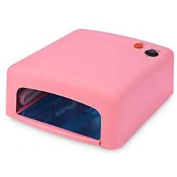 Επαγγελματικό φουρνάκι νυχιών - λάμπα UV 36w για ημιμόνιμο μανικιούρ - Ροζ