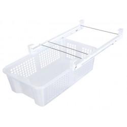 Ρυθμιζόμενο συρτάρι - ράφι αποθήκευσης ψυγείου - 35~57x23x16~17cm