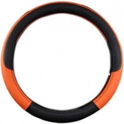 Κάλυμμα τιμονιού PU Φ38cm για το αυτοκίνητο - Πορτοκαλί