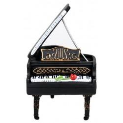 Vintage Επιτραπέζιο Διακοσμητικό Πιάνο - Μαύρο