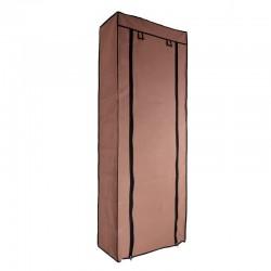Υφασμάτινη ντουλάπα ρούχων με 7 ράφια (100x50x170cm) - Καφέ