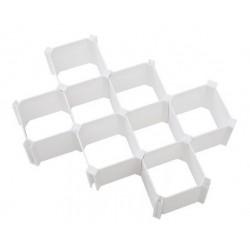 Διαχωριστικά συρταριών 6 τεμάχια - Λευκό