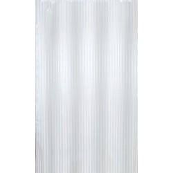 Αδιάβροχη κουρτίνα μπάνιου ριγέ 180x180cm - Λευκό