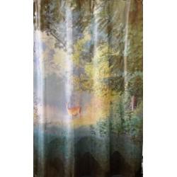 Κουρτίνα μπάνιου PEVA με 12 κρίκους 177x182cm - Forest