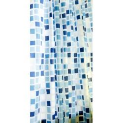 Κουρτίνα μπάνιου EVA με 12 κρίκους 180x180cm - Blue